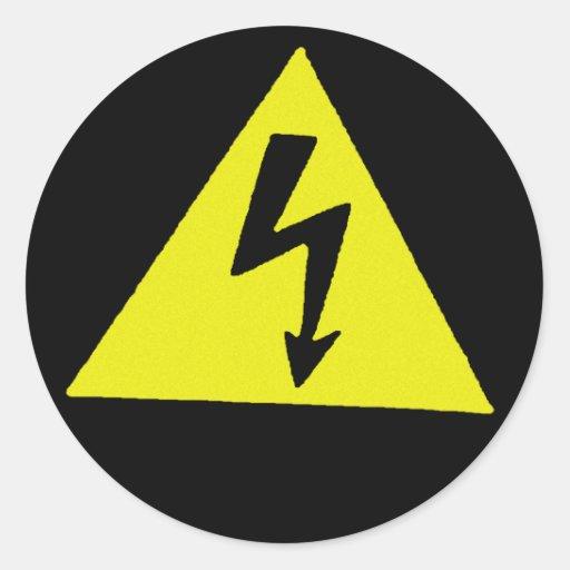 voltage classic round sticker