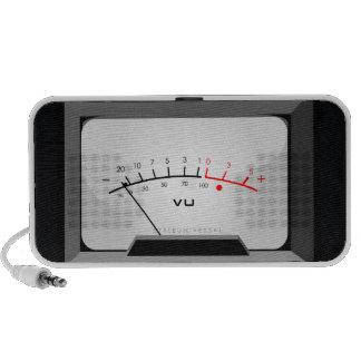 Voltage meter speakers