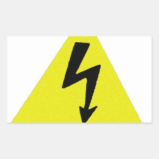 voltage rectangular sticker
