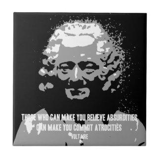 Voltaire - absurdidades azulejos cerámicos