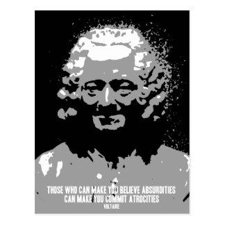 Voltaire - Absurdities Postcard
