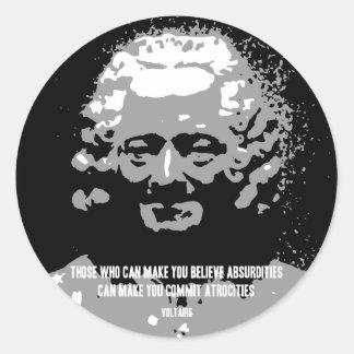 Voltaire - Absurdities Round Stickers