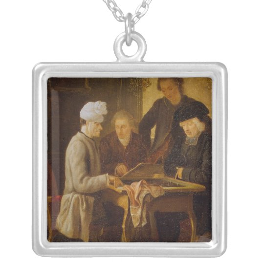 Voltaire at Chess Silver Plated Necklace