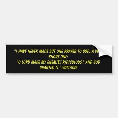 Voltare to learn who rules over you bumper sticker zazzle com