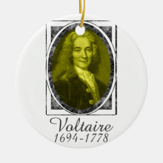 Voltaire Ceramic Ornament