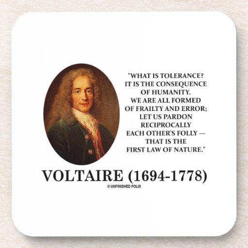 ¿Voltaire cuál es tolerancia? Humanidad de la Posavasos De Bebidas