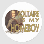 Voltaire es mi Homeboy Etiqueta Redonda