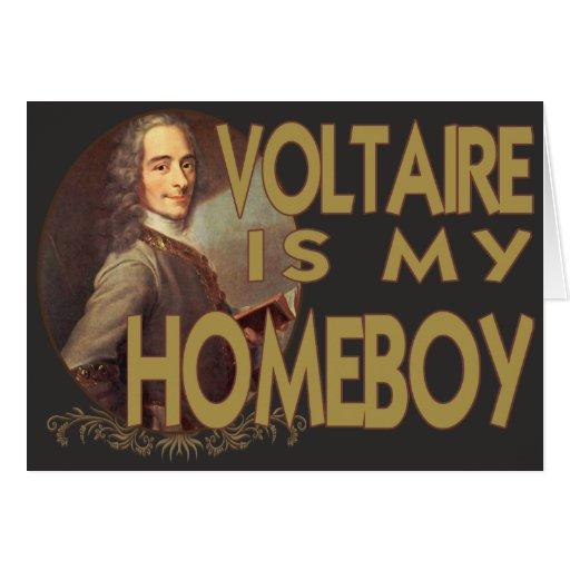 Voltaire es mi Homeboy Tarjeta De Felicitación