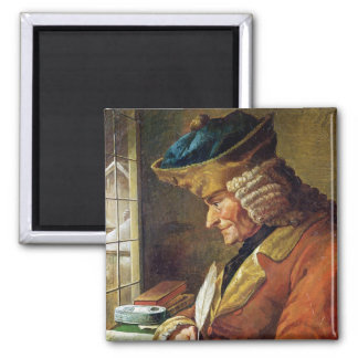 Voltaire  in his Study 2 Inch Square Magnet