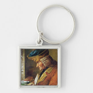 Voltaire  in his Study Keychain