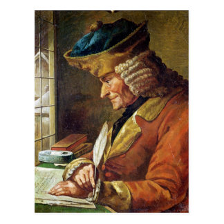 Voltaire  in his Study Postcard