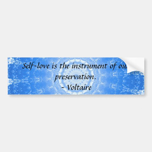 voltaire inspirational quote about self love bumper