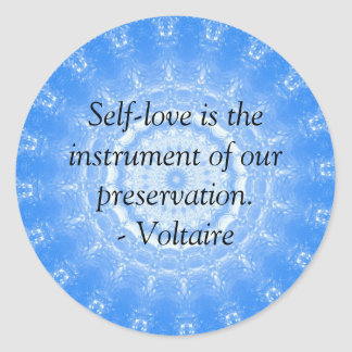 Voltaire  inspirational  QUOTE about self-love Classic Round Sticker