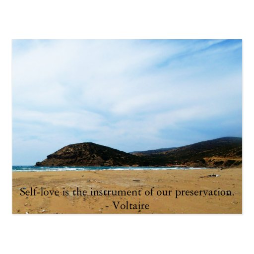 Voltaire  inspirational  QUOTE about self-love Postcards