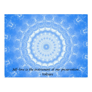 Voltaire  inspirational  QUOTE about self-love Postcard