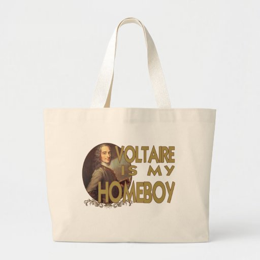 Voltaire Is My Homeboy Large Tote Bag
