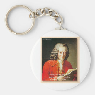 "Voltaire ""No Enemies"" Wisdom Quote Gifts Tees Etc Keychain"