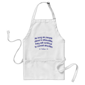 Voltaire on Absurdities Adult Apron