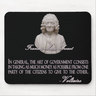 Voltaire on the Art of Government Mouse Pad