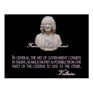Voltaire on the Art of Government Postcard