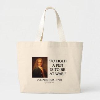 Voltaire para sostener una pluma debe estar en la bolsa tela grande