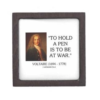 Voltaire para sostener una pluma debe estar en la cajas de regalo de calidad