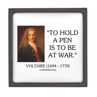 Voltaire para sostener una pluma debe estar en la caja de joyas de calidad