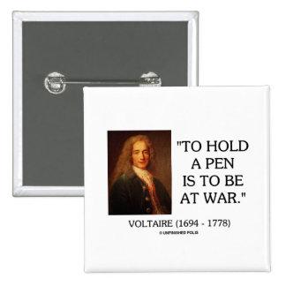 Voltaire para sostener una pluma debe estar en la  pin cuadrada 5 cm