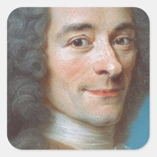 Voltaire Pegatina Cuadrada