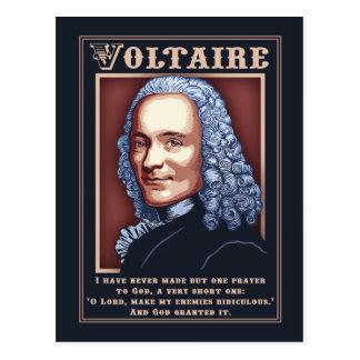 Voltaire - Prayer Postcard
