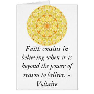 Voltaire quotation about FAITH Card