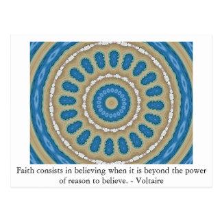 Voltaire quotation about FAITH Postcard