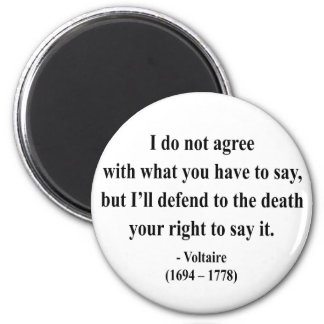 Voltaire Quote 1a 2 Inch Round Magnet
