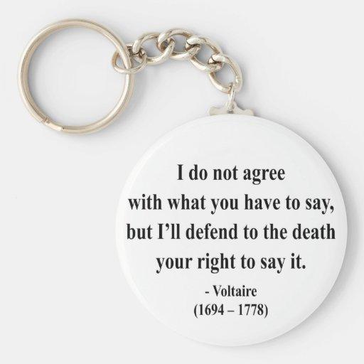 Voltaire Quote 1a Basic Round Button Keychain