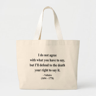 Voltaire Quote 1a Canvas Bags