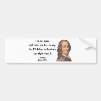 Voltaire Quote 1b Car Bumper Sticker