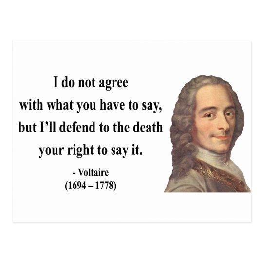 Voltaire Quote 1b Postcard