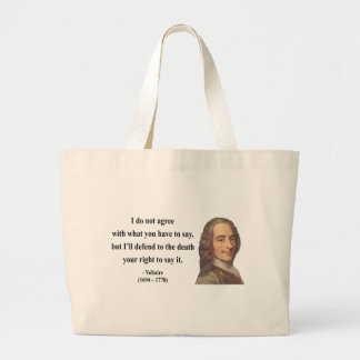 Voltaire Quote 1b Tote Bag