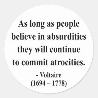 Voltaire Quote 2a Classic Round Sticker