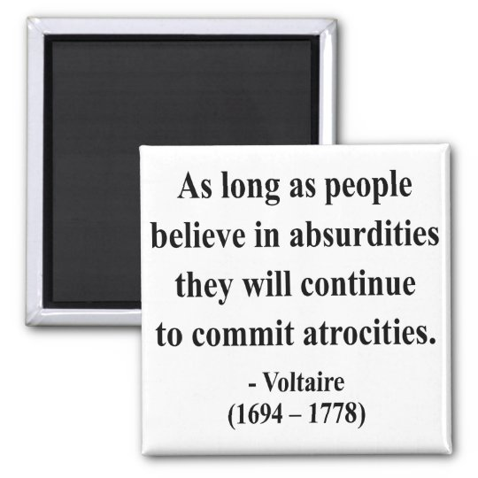 Voltaire Quote 2a Magnet