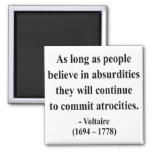 Voltaire Quote 2a Magnets