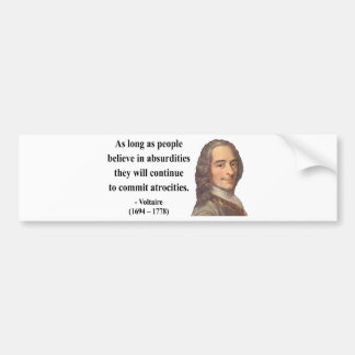 Voltaire Quote 2b Bumper Sticker