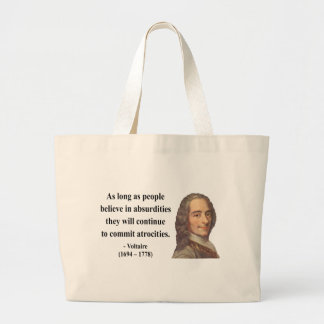 Voltaire Quote 2b Canvas Bag