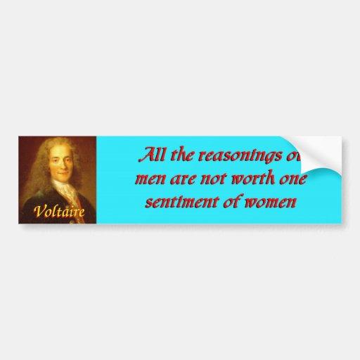 Voltaire quote 3 car bumper sticker
