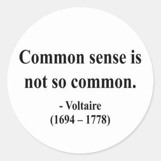 Voltaire Quote 3a Classic Round Sticker