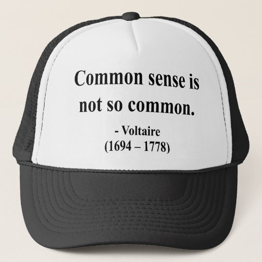 Voltaire Quote 3a Trucker Hat