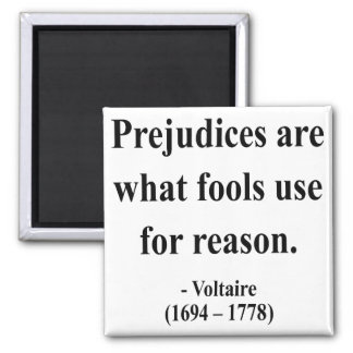 Voltaire Quote 4a 2 Inch Square Magnet
