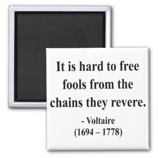 Voltaire Quote 5a 2 Inch Square Magnet