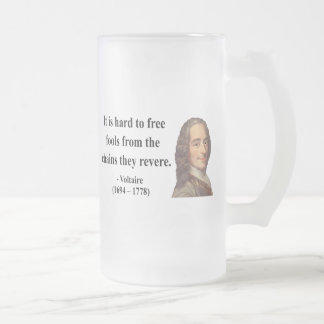 Voltaire Quote 5b Frosted Glass Beer Mug