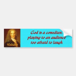 Voltaire quote 6 car bumper sticker